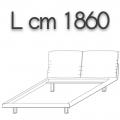 HONEY letto HLE18 doppia piazza - L 1860 H 960 P 2200