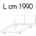HONEY letto HLEKS doppia piazza - L 1990 H 960 P 2250