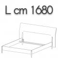 NICK letto NLO16 - L 1680(giroletto)/2000(testata) H 1080 P 2220