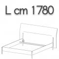 NICK letto NLO17 - L 1780(giroletto)/2100(testata) H 1080 P 2220