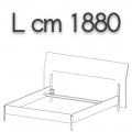 NICK letto NLO18 - L 1880(giroletto)/2200(testata) H 1080 P 2220