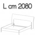 NICK letto NLO20 - L 2080(giroletto)/2355(testata) H 1080 P 2220