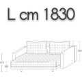 ODL180 - letto L 1830 P 2060 H 670 - 5.082,00 €