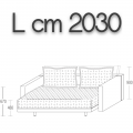 ODL200 - letto L 2030 P 2060 H 670 - 5.428,00 €