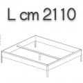 SWEETDREAMS letto SLE20 - L 2110 P 2110 H 440