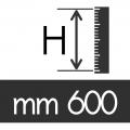 ALTEZZA CUSCINO H 600