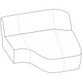 SURF CL14-DX versione destra - ELEMENTO LONGUE L 1420 P 1540 H 710
