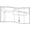 B214TS Elemento terminale sx - (cm) L 214 P 124 H 70