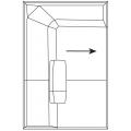 B116A Elemento terminale-angolare - (cm) L 116 P 177,5 H 65