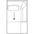 B177LD Chaise longue dx - (cm) L 111 P 177,5 H 65