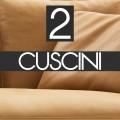 n°2 Cuscini schienale 60x55 - B55C PELLE - 1.356,00€