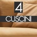 n°4 Cuscini schienale 60x55 - B55C PELLE - 2.712,00€